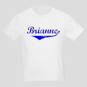 Brianne Vintage (Blue) Kids Light T-Shirt