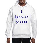 315. i love you. . Hooded Sweatshirt