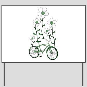 Flower Bike Yard Sign