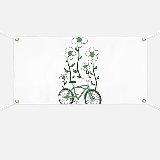 Flower Bike Banner