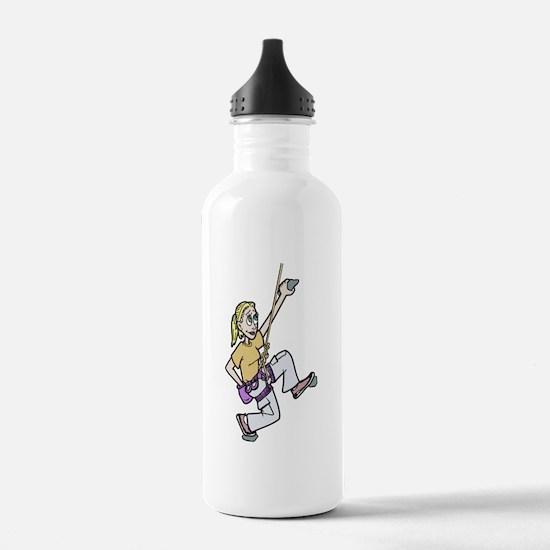Girl Climbing Water Bottle