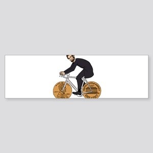 Abraham Lincoln On A Bike With Penn Bumper Sticker