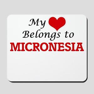 My Heart Belongs to Micronesia Mousepad