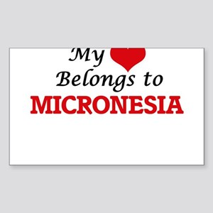 My Heart Belongs to Micronesia Sticker