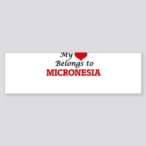 My Heart Belongs to Micronesia Bumper Sticker