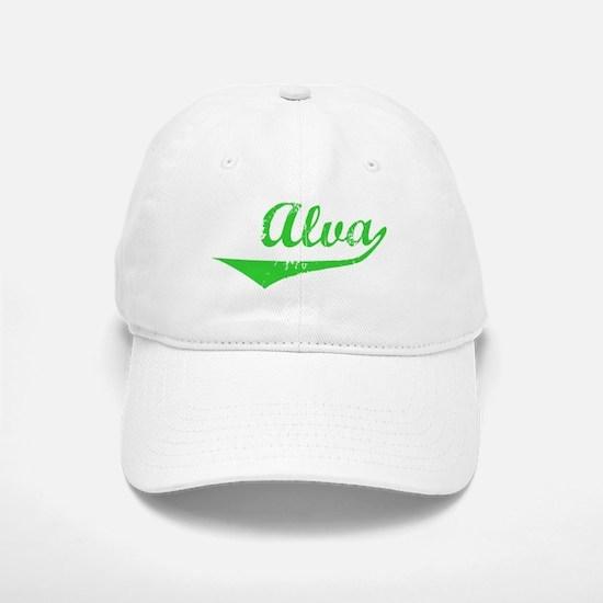 Alva Vintage (Green) Baseball Baseball Cap