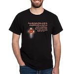 John 8:12 Celestial Cross Black Shirt