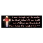 John 8:16 Celestial Cross Bumper Sticker