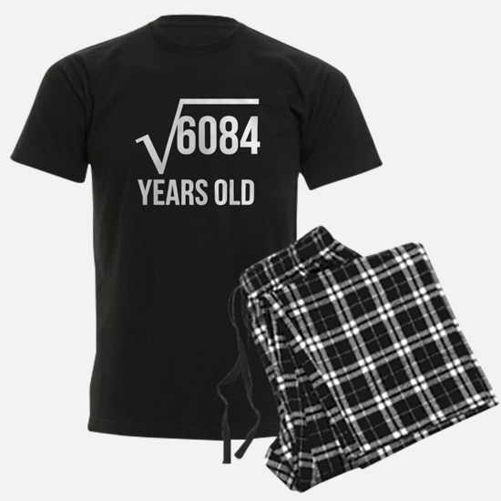 78 Years Old Square Root Pajamas
