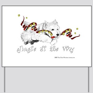 Westhighland Terrier Holiday Yard Sign