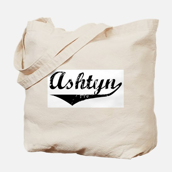 Ashtyn Vintage (Black) Tote Bag