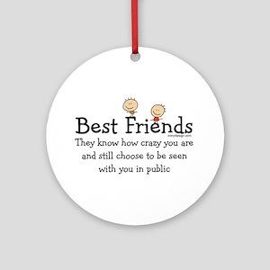 Best Friends Ornament (Round)