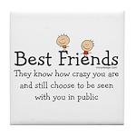 Best Friends Tile Coaster