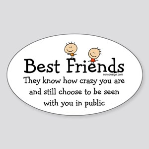 Best Friends Oval Sticker