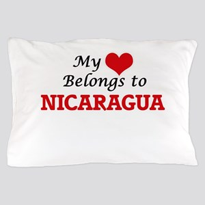 My Heart Belongs to Nicaragua Pillow Case