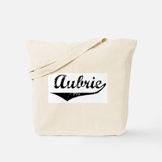 Aubrie Vintage (Black) Tote Bag