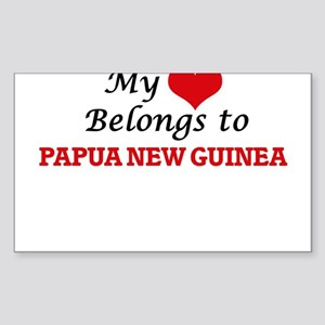 My Heart Belongs to Papua New Guinea Sticker