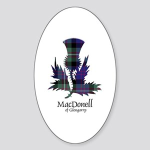 Thistle-MacDonellGlengarry Sticker (Oval)