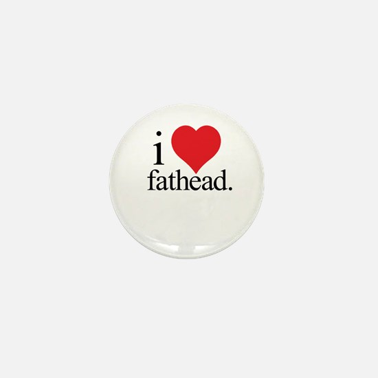 Anti Heart Fathead Mini Button