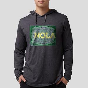 NOLA Elegant Green Purple Gold Long Sleeve T-Shirt