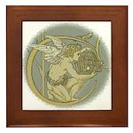 Art Nouveau Angel Framed Tile