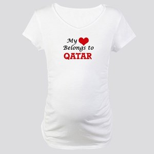 My Heart Belongs to Qatar Maternity T-Shirt