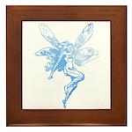 Blue Ink Fairy Framed Tile