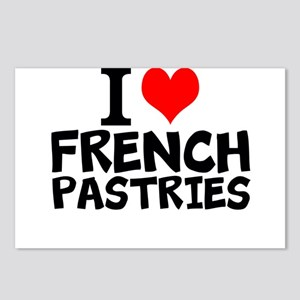 I Love French Pastries Postcards (Package of 8)