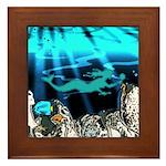Blue Mermaid Framed Tile