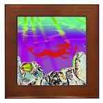 Red Mermaid Framed Tile