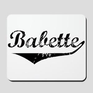 Babette Vintage (Black) Mousepad