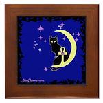 Ankh Moon Kat Framed Tile