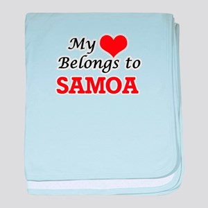 My Heart Belongs to Samoa baby blanket