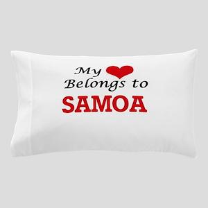 My Heart Belongs to Samoa Pillow Case