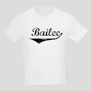 Bailee Vintage (Black) Kids Light T-Shirt