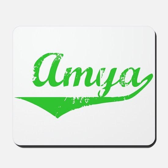 Amya Vintage (Green) Mousepad