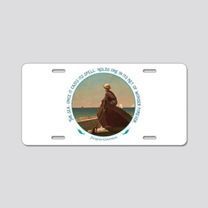The Sea Aluminum License Plate