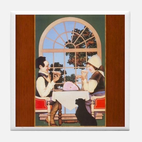 Tile Coaster - Jack Spratt, by Maxfield Parrish