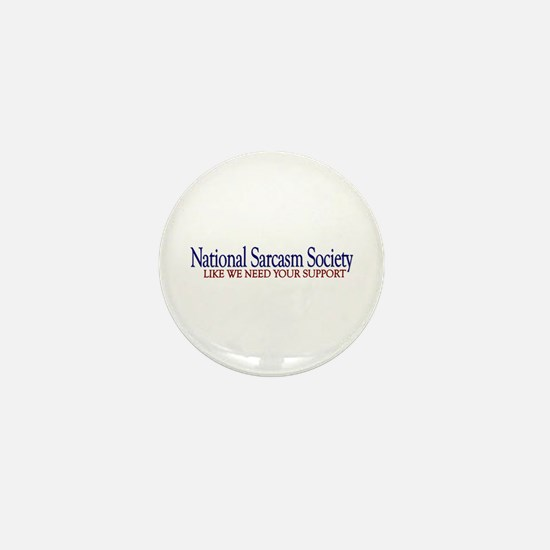 National Sarcasm Society Mini Button