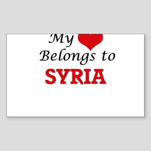 My Heart Belongs to Syria Sticker