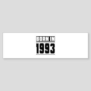 Born In 1993 Birthday Designs Sticker (Bumper)