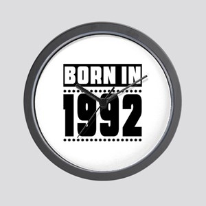 Born In 1992 Birthday Designs Wall Clock