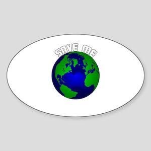 Save Me Oval Sticker
