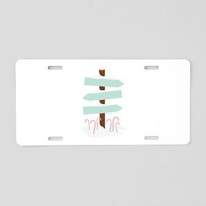 Cane Sign Post Aluminum License Plate