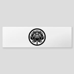 Lotus bloom in circle Bumper Sticker