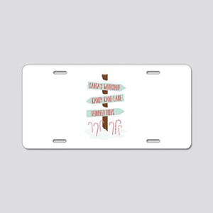 North Pole Signs Aluminum License Plate