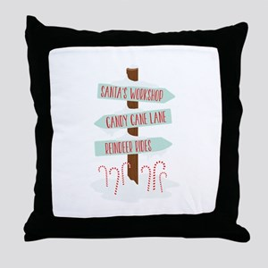 North Pole Signs Throw Pillow