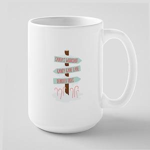 North Pole Signs Mugs