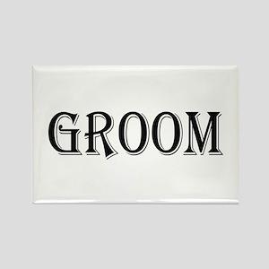 Groom Rectangle Magnet