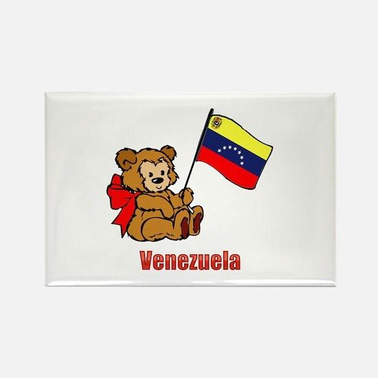 Venezuela Teddy Bear Rectangle Magnet